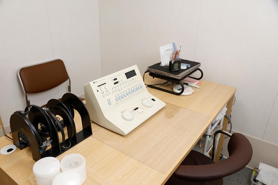 標準純音聴力検査・標準語音聴力検査・耳鳴検査・ABR検査