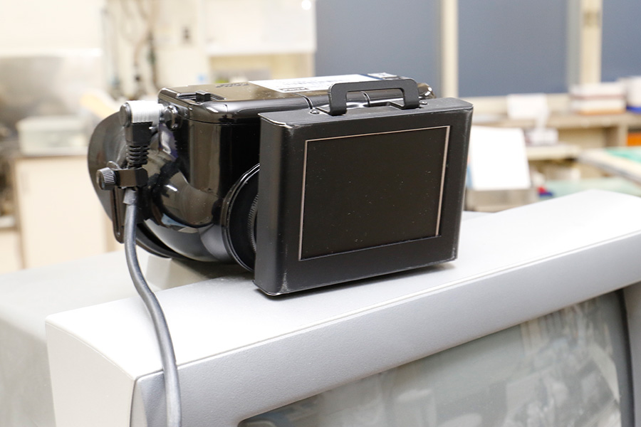 CCDカメラ付きフレンチェル鏡検査